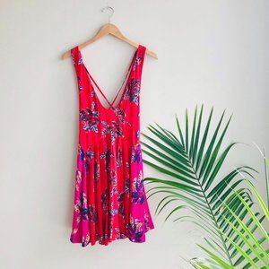 Free People Thought I Was Dreaming Minidress Red M